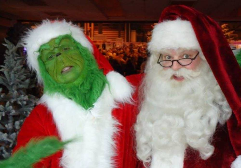Celebrity Santa with the Grinch