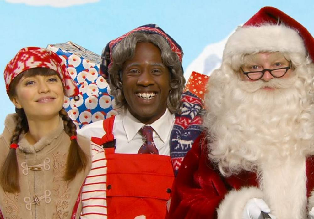 Santa with Sid Sloane and Rebecca Keatley on Lets Play