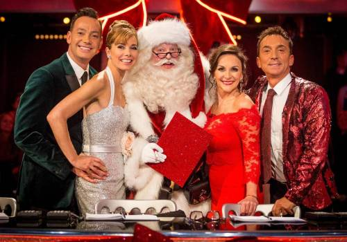 Celebrity Santa on Strictly Come Dancing Christmas Special